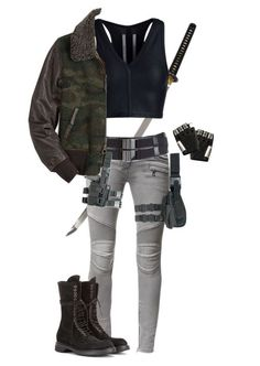 """Zombie Apocalypse - Outfit"" by slightlyterrified ❤ liked on Polyvore featuring Tom Ford, Balmain, Rick Owens and Majesty Black"