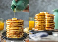 BACON PANCAKES have been a family favorite for years! We first had these savory pancakes and bacon bits at the Calgary Stampede in Canada and have been making them ever since. If you've been thinking about making Bacon Pancakes, today is the day! It's our favorite easy breakfast recipe. The savory/sweet combo just can't be beat!
