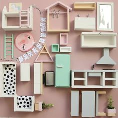28 Ideas For Doll House Printables Miniatures Dollhouse Furniture Ikea Dollhouse, Wooden Dollhouse, Dollhouse Miniatures, Dollhouse Ideas, Modern Dollhouse Furniture, Diy Barbie Furniture, Retro Furniture, Furniture Outlet, Bathroom Furniture