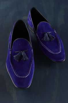 The most vivid blue slip-ons from Martin Viola