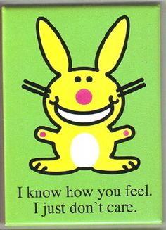 Happy Bunny hi Refrigerator Magnet NEW UNUSED loser