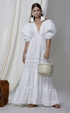 M'O Exclusive Mademoiselle Sophie Cotton Eyelet Dress by JOHANNA ORTIZ for Preorder on Moda Operandi