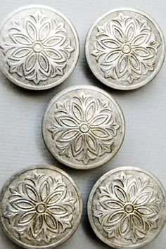 Vintage French Metal Buttons