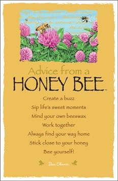 Advice from a Honeybee