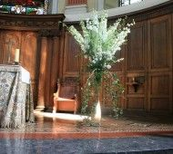 White Delphinium Flowers for a Church Wedding