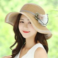fc97467a 34 Best Summer straw hats packable sun hat for women images | Straw ...
