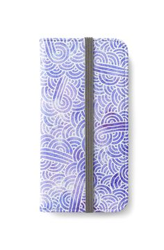 Lavender and white swirls doodles iPhone Wallet by @savousepate on @redbubble #iphonewallet #phonewallet #zentangle #doodles #abstract #modern #graphic #geometric #pastelcolors #blue #purple #lavender #lilac #mauve #periwinkle #serenity