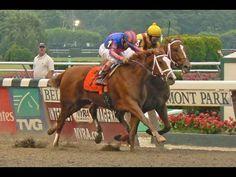 Girl Power in the 2007 Belmont Stakes - Watch as Rags To Riches, a filly duels Curlin in the stretch to become the first filly in 102 years to win the Belmont / All three Triple Crown races that year were thrilling!! YouTube