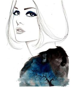 65 Fabulous Fashion Illustrations - From Crayon Style Collages to Psychedelic Female Depictions (TOPLIST)