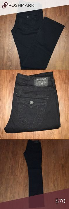 BILLY True Religion Black Jeans Excellent Condition  Black straight leg jeans True Religion True Religion Jeans Straight Leg