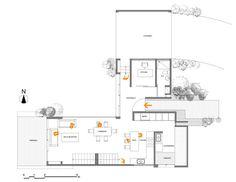 Casa Vistas al Volcán,Plano de Primer Piso