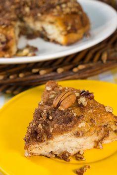 Homemade Cinnamon Bun Pie- Is it dessert or breakfast? No matter when you enjoy it, this cinnamon bun pie is always delicious!