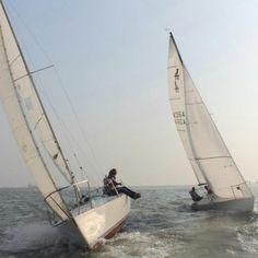 #Sailing at Gateway of India, #Mumbai on a J24 class sailboat! http://www.leisurekart.com/mumbai/activity/sailing-at-gateway-of-india-mumbai-j24-class-sailboat/ #ThingsToDoInMumbai
