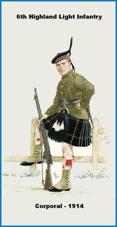 BRITISH ARMY - Highland Light Infantry, 6th Battalion, Corporal 1914