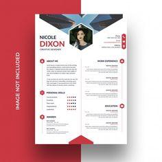 Resume template | Premium Psd #Freepik #psd #infographic #design #cv #cv-template Creative Photos, Creative Design, Curriculum Vitae Simple, Photo Composition, Art Activities, Art School, Templates, Cv Template, Resume