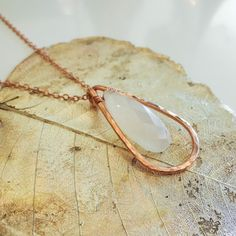 Rose gold moonstone necklace by Shelli Hoggarth at Nan Lee Jewelry