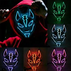 Details about LED Light Up Mask Scary Glowing Fox Rave Purge Festival Cosplay Halloween Minion Halloween, Halloween Zombie, Rave Halloween, Halloween Masks, Costume Halloween, Link Halloween, Halloween Festival, Halloween Horror, Halloween Makeup