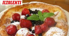 Kauniit ja näppärät lautaspannukakut Food And Drink, Pie, Pudding, Desserts, Torte, Tailgate Desserts, Cake, Deserts, Fruit Cakes