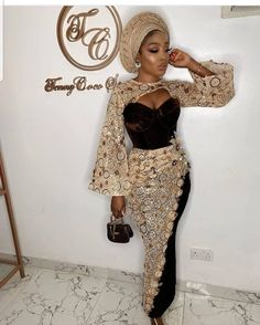 Latest Aso Ebi Styles 2020 For Ladies: Most Popular Aso Ebi styles - Owambe Celebrities World Nigerian Lace Dress, Nigerian Lace Styles, Aso Ebi Lace Styles, Lace Gown Styles, African Lace Styles, Latest Aso Ebi Styles, African Lace Dresses, Ankara Dress Styles, Latest African Fashion Dresses