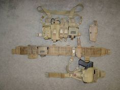 An interesting set up, using a mini chest rig and a battle belt.