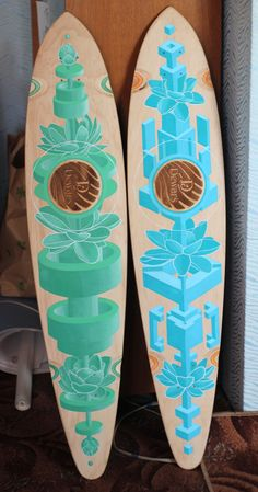 Longboard painting by Roman Kreemos, via Behance