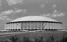 The Harris County Domed Stadium (Astrodome) in Houston, Texas, c. 1970