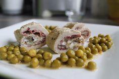 Creamy Chicken Rolls (with cream cheese and ham) - involtini di pollo ripieni di crema spalmabile, funghi e prosciutto crudo