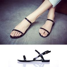 Mo small white The new summer 2014 in Europe and the contracted big flat  shoes fine temperament sandals 4defd099fcc1