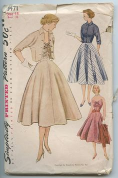 1950s Simplicity 8471 Three Piece Evening Dress by GreyDogVintage