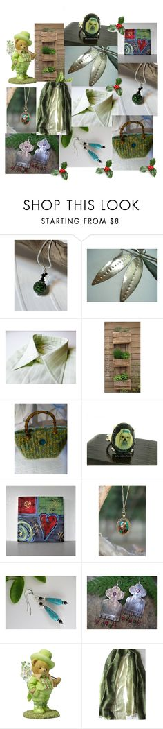 """""""Olive Green"""" by anna-recycle ❤ liked on Polyvore featuring modern, rustic and vintage"""