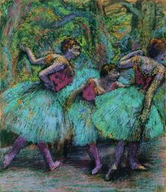 Edgar Degas, 'Trois danseuses (jupes bleues, corsages rouges) (Three Dancers, Blue Tutus, Red Bodices),' ca. 1903, Fondation Beyeler