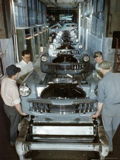 Studebaker Assembly Line in South Bend Indiana, c.1946 Premium Photographic Print by Bernard Hoffman at Art.com