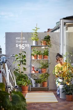 Our pots, plant stands and gardening tools are all sproutstanding ways we can help your outdoor garden blossom. Find them, and more, at IKEA.ca Room With Plants, House Plants, Catalogue Ikea, Hanger Crafts, Palm Springs Style, Flower Cart, Apartment Goals, Galvanized Steel, Low Lights