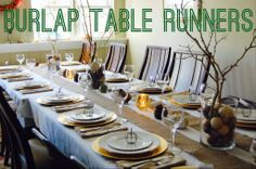 It's easy to add a touch of trend to any Holiday Table setting with the unexpected Burlap Table Runners, now available in neutral, green and red at Mirab's Home Store! Happy Shopping & Happy Holidays!