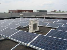 Kristallijn PV Energie op plat dak