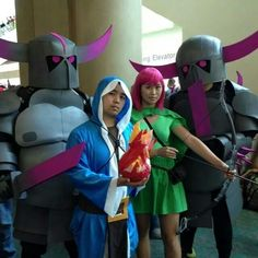 Clash of Clans cos at San Diego comic con