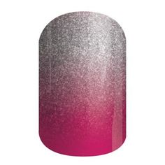 Berry Sparkler | Jamberry Nails Silver gives way to berry colors in this sparkling ombré wrap.  #BERRYSPARKLERJN