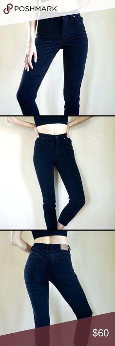 73dfde4f2c Madewell velour high rise skinny jeans Black velour Madewell