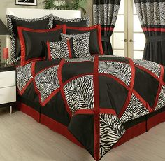 Safari Red, White & Black by Sherry Kline - BeddingSuperStore.com
