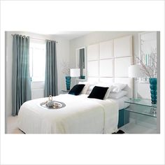 Teal And White Bedroom Thinking These Colours For Hobart