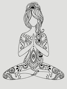 Pin by ирина on трафареты yoga, mandala, doodle art Mandala Coloring, Colouring Pages, Adult Coloring Pages, Coloring Books, Mandala Art, Mandala Doodle, Zentangle Patterns, Embroidery Patterns, Zentangles
