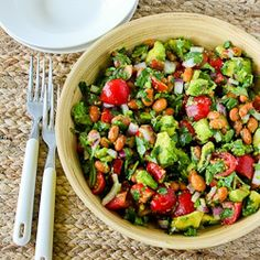 Pinto Bean Salad Recipe with Avocado, Tomatoes, Red Onion, and Cilantro  [from Kalyn's Kitchen]