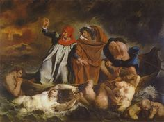 Barque of dante - 1822 - Louvre Eugène Delacroix