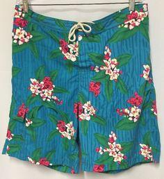 Polo Swim Shorts XL Trunks Hawaiian Ralph Lauren Velcro Fly Pockets Mesh Liner #PoloRalphLauren #Trunks