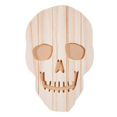 Carved Pallet Skeleton Face for DIY Halloween Decor: Unfinished Wood, 9 x 14 inches