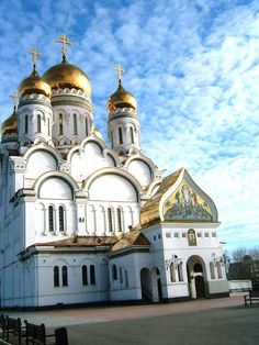 This is a shot of a big Russian Orthodox Church in Samara.