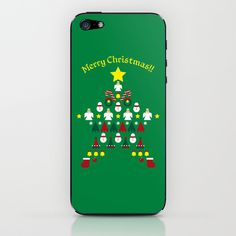 FLAT CHRISTMAS series -CHRISTMAS STAR_G iPhone & iPod Skin by SEOL.D - $15.00