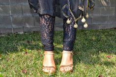 lace pajami suit