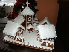 Gingerbread village with church -this person is brilliant! an artist of gingerbread!
