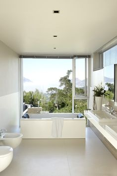 Room with a view! The ultimate luxury bathroom.